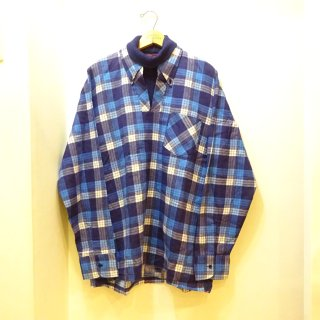 Dead Stock 70's KINGSPORT by Sears Roebuck Pullover Layered Printed Flannel B.D Shirts size L