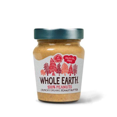オーガニック 100% ピーナッツバター(クランチ)(WHOLE EARTH/ホールアース)