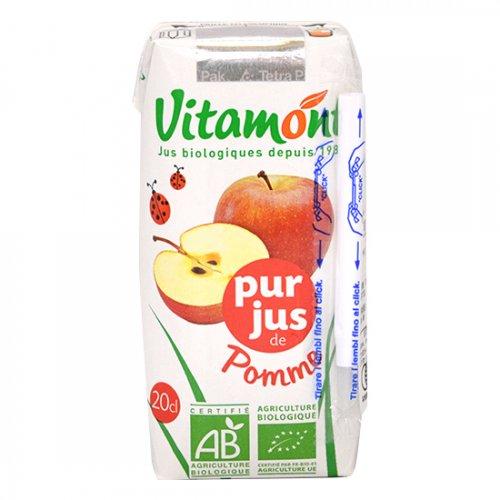 ヴィタモント オーガニックアップルジュース 200ml【J43】