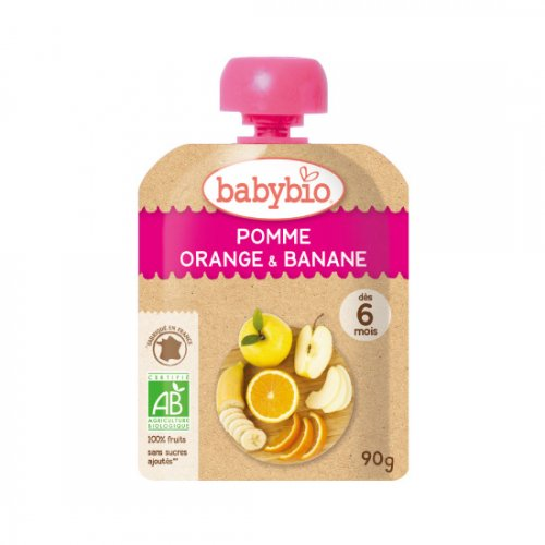 ベビースムージー アップル・オレンジ・バナナ 90g(babybio/ベビービオ)
