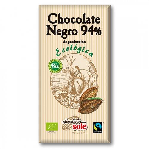 ダークチョコレート94% 100g(ヴィーガン対応)(Chocolate Sole/チョコレートソール)