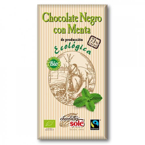 ダークチョコレート73%(ペパーミント)100g(ヴィーガン対応)(Chocolate Sole/チョコレートソール)
