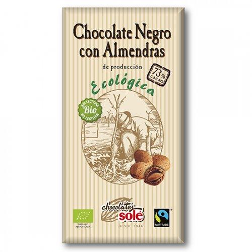 ダークチョコレート73%(アーモンド)150g(ヴィーガン対応)(Chocolate Sole/チョコレートソール)