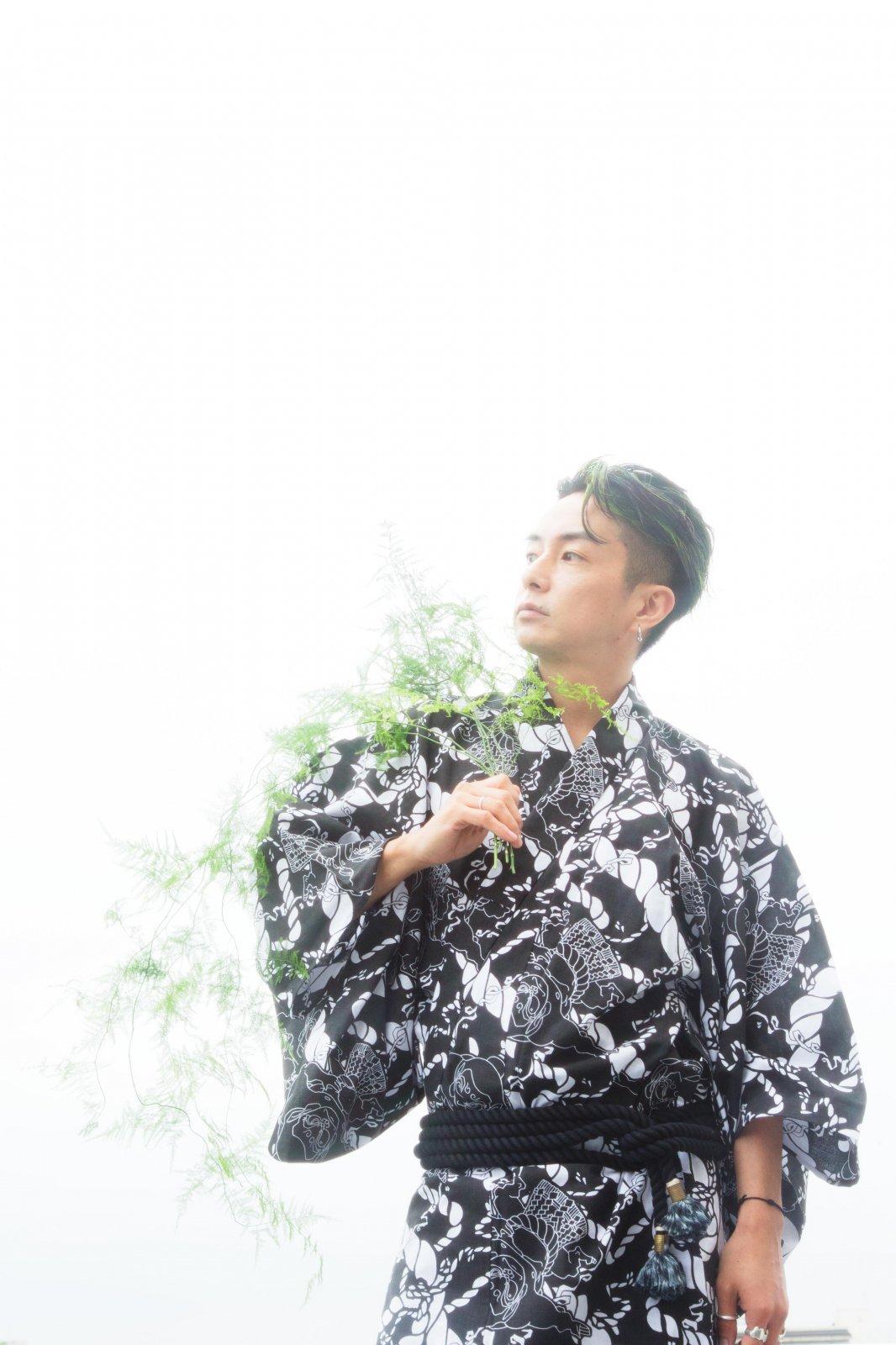 千代の富士 × 瀧下和之 ちよのふじ柄 浴衣
