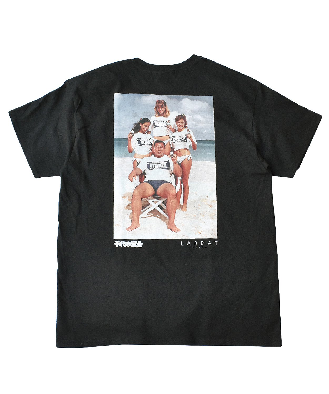 "LABRAT×千代の富士 ""beach"" tee(BLACK)"