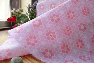 可愛いハチの巣フラワーの柔らかDG・ピンク