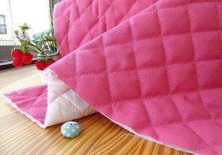 綿麻キャンバスキルティング(ボリュームタイプ)・なでしこピンク