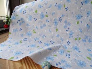 柔らか刺繍コットン グラスフラワー・ブルー