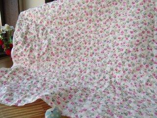 可愛い2色小花のポコポコリップル・ピンク