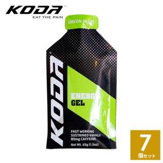 KODA(コーダ) 旧shotz(ショッツ) エナジージェル グリーンプラム味×7個セット