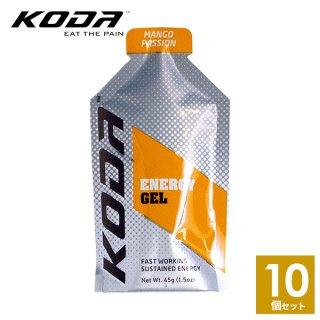 KODA(コーダ) 旧shotz(ショッツ) エナジージェル マンゴーパッション味×10個セット
