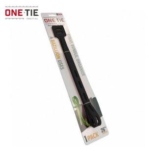 ONE-TIE 26inch (66cm) 1本パック ブラック 何度も使えるギアラッピングツール 結束バンド