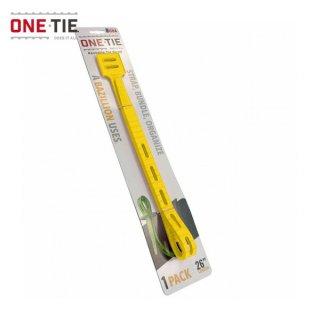 ONE-TIE 26inch (66cm) 1本パック イエロー 何度も使えるギアラッピングツール 結束バンド