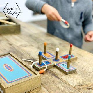 SPICE OF LIFE FESTA HOME ミニレトロ輪投げゲーム インドアやアウトドアで遊べるレトロなテーブルゲーム