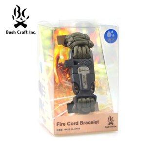 BushCraftInc.(ブッシュクラフト) ファイヤーコードブレスレット メタルマッチと火口(ティンダー)搭載のサ
