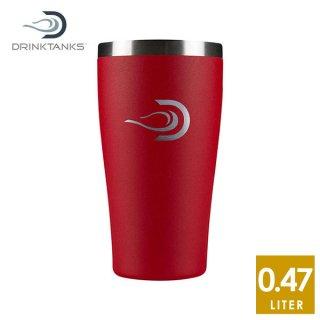 DrinkTanks(ドリンクタンクス) 16oz(473ml) Cup(カップ) カップホルダーに入る真空断熱タンブラー(437ml)