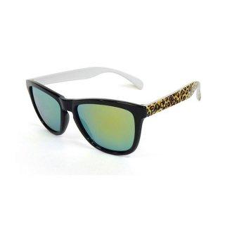 DANG SHADES(ダン・シェイディーズ) ORIGINAL Black / Yellow leopard Gloss ×Gold Mirror サングラス