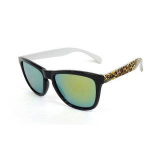 DANG SHADES(ダン・シェイディーズ) ORIGINAL Black / Yellow leopard Gloss ×Gold Mirror サングラス