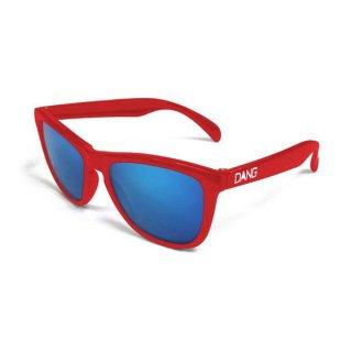 DANG SHADES(ダン・シェイディーズ) ORIGINAL ORIGINAL Red Gloss × Blue Mirror スポーツサングラス