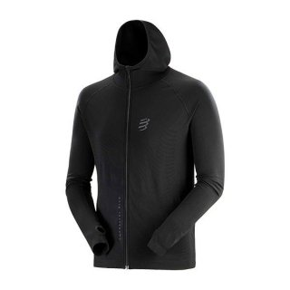 ★COMPRESSPORT(コンプレスポーツ) 3D Thermo Seamless Hoodie Zip - Black Edition 2020 メンズ・レディー