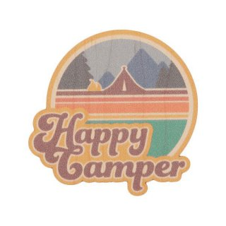 TRYL WOOD STICKER(ウッドステッカー) Happy Camper 木材を使用した自然素材のステッカー