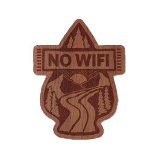 TRYL WOOD STICKER(ウッドステッカー) NO WIFI 木材を使用した自然素材のステッカー
