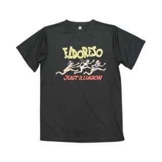 ELDORESO(エルドレッソ) Illusion T(Black) メンズ・レディース ドライ半袖Tシャツ