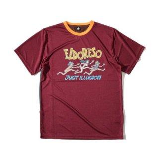 ELDORESO(エルドレッソ) Illusion T(Burgundy) メンズ・レディース ドライ半袖Tシャツ