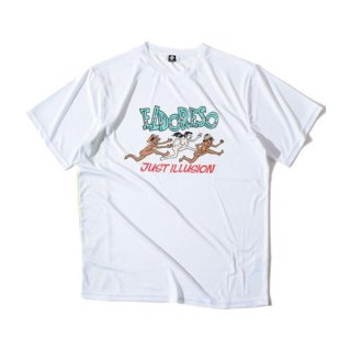 ELDORESO(エルドレッソ) Illusion T(White) メンズ・レディース ドライ半袖Tシャツ