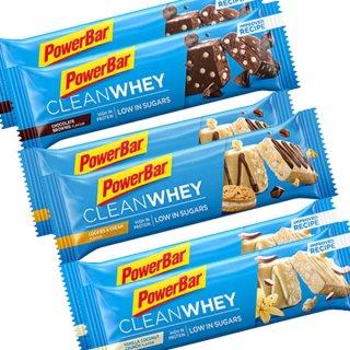 【PowerBar】クリーンホエイ(プロテイン)  6本セット(バニラココナッツクランチ×2、チョコレートブラウニー×2、クッキー&クリーム×2)