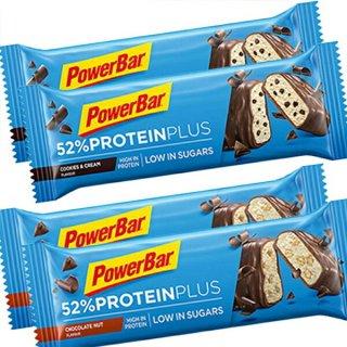 【PowerBar】52%プロテインプラス  4本セット(チョコレートナッツ×2、クッキー&クリーム×2)