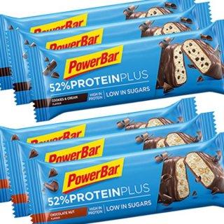 【PowerBar】52%プロテインプラス  6本セット(チョコレートナッツ×3、クッキー&クリーム×3)