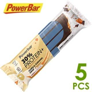 【PowerBar】パワーバー 30%プロテインプラス バニラキャラメルクリスプ 5本