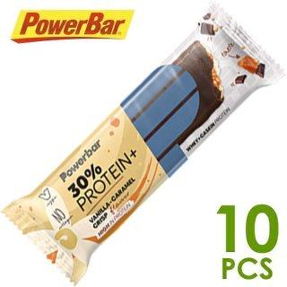 【PowerBar】パワーバー 30%プロテインプラス バニラキャラメルクリスプ 10本