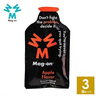Mag-on (マグオン) リンゴ味 3個 【トレイルランニング トレラン ランニング 行動食 補給食 健康食 おいしい マラソン】