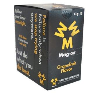 Mag-on (マグオン) エナジージェル グレープフルーツ味 1箱(12個) 【トレイルランニング トレラン ランニング 補給食 健康食 おいしい エナジーバー 】