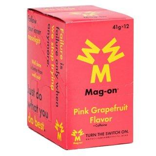 Mag-on (マグオン) エナジージェル ピンクグレープフルーツ味 1箱(12個) 【トレイルランニング トレラン ランニング 補給食 健康食 おいしい エナジーバー 】