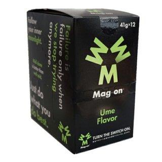 Mag-on (マグオン) エナジージェル ウメ味 1箱(12個) 【トレイルランニング トレラン ランニング 補給食 健康食 おいしい エナジーバー 】