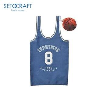 SETOCRAFT(セトクラフト) バッグ(バスケット) ネイビー バスケットボールユニフォーム風のエコバッグ