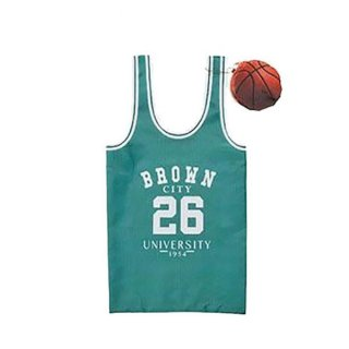 SETOCRAFT(セトクラフト) バッグ(バスケット) グリーン バスケットボールユニフォーム風のエコバッグ
