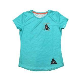 STAMP RUN&CO(スタンプ ランアンドシーオー) STAMP WOMENS GRAPHIC RUN TEE(Pinecone Boy) 半袖Tシャツ