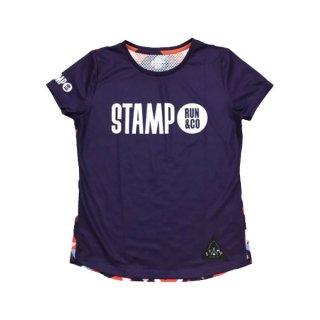 STAMP RUN&CO(スタンプ ランアンドシーオー) STAMP WOMENS GRAPHIC RUN TEE(LandscapeShapes) 半袖Tシャツ