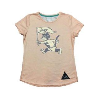 STAMP RUN&CO(スタンプ ランアンドコー) STAMP WOMENS GRAPHIC RUN TEE(RunStampyRun!) 半袖Tシャツ