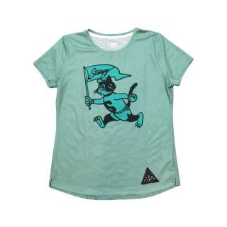 STAMP RUN&CO(スタンプ ランアンドシーオー) STAMP WOMENS GRAPHIC RUN TEE(RunStampyRun!) 半袖Tシャツ