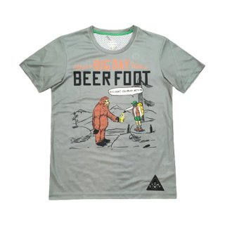 STAMP RUN&CO(スタンプ ランアンドコー) STAMP GRAPHIC RUN TEE(BEER FOOT) ドライ半袖Tシャツ