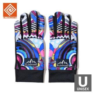 ELDORESO(エルドレッソ) Cierpinski Gloves(Purple) メンズ・レディース ランニンググローブ