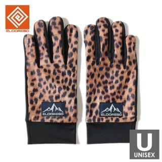 ELDORESO(エルドレッソ) Cierpinski Gloves(Brown) メンズ・レディース ランニンググローブ