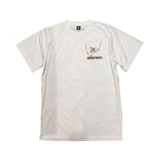 ELDORESO(エルドレッソ) Advent Boneman T(White) メンズ・レディース ドライ半袖Tシャツ