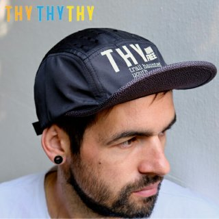 THY (Trail Hounted Youth) BLACK DOT DOT DOT,COM ランニングキャップ ユニセックス(メンズ・レディース)