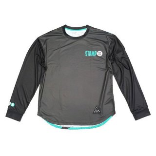 STAMP RUN&CO(スタンプ ランアンドシーオー) STAMP LONG SLEEVE TEE (STAMP LOGO TYPE) ドライ長袖Tシャツ